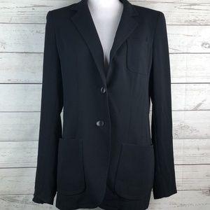 Max Mara Size 40 Long Two Button Blazer Jacket